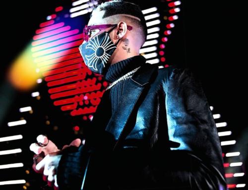 Face Masks Make A Statement At Premios Juventud